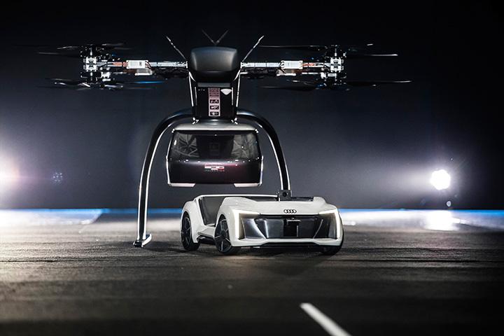 """fac529f0d2 Az amszterdami Drone Week rendezvényen mutatja be először repülő és  szárazföldön közlekedő """"Pop.Up Next"""" tanulmányát az Audi, az Airbus és az  Italdesign."""