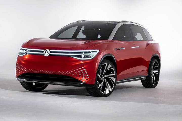 """919b4d0fed A Volkswagen leleplezte az ID. járműcsalád legújabb tagját, az ID.ROOMZZ  modellt az Auto Shanghai előestéjén tartott """"Brand SUV Night"""" bemutatón."""